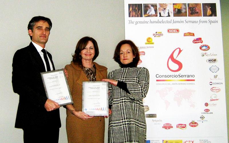 La norma de calidad para el jamón Consorcio Serrano recibe la Certificación SGS