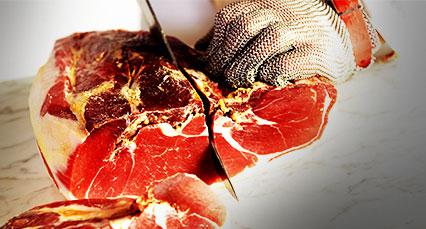 D coupe du jambon serrano la machine consorcio del - Machine a couper le jambon manuelle ...