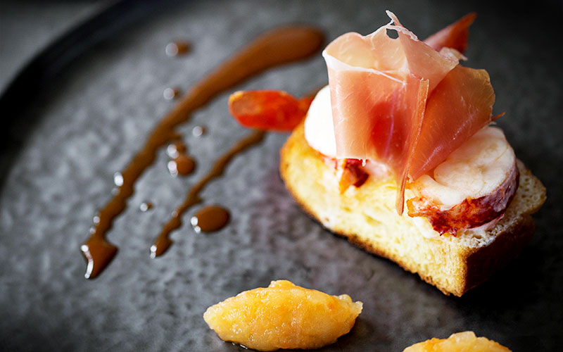 recette jambon consorcio serrano en brioche et homard