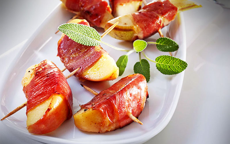 rezepte Apfel und Birne treffen Serrano